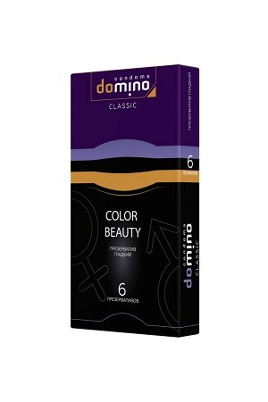 Разноцветные гладкие презервативы DOMINO Colour Beauty (6 шт)
