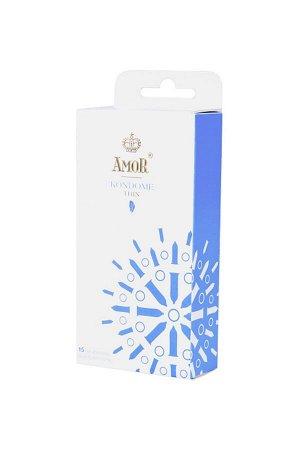 Тонкие презервативы AMOR THIN 18 см (15 шт)