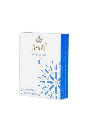 Тонкие презервативы AMOR THIN 18 см (3 шт)