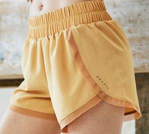 """Женские спортивные шорты на резинке, надпись """"dryfit"""", цвет желтый"""