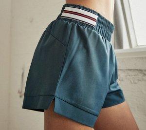 Женские спортивные шорты на резинке, цвет полынь
