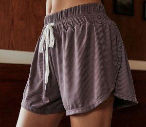 Женские спортивные шорты на завязках, цвет дамчато-розовый