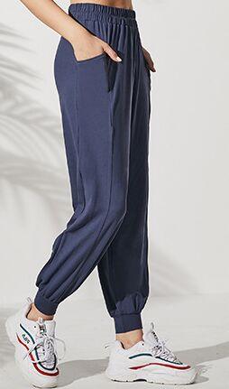 Женские спортивные джоггеры с средней посадкой, цвет синий