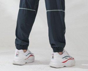 Женские спортивные джоггеры на резинке с утяжкой, контрастная отделка, цвет виридан