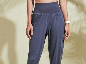 Женские спортивные джоггеры на резинке, цвет синий