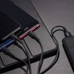 BOROFONE Черный 3in1 зарядный кабель Apple / Androind / Type-C
