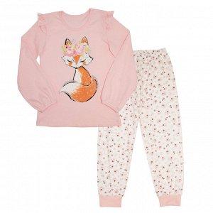 Пижама Милая пижамка. Яркий модный принт. Материал: 100% хлопок, кулирка Размеры: 30, 32, 34, 36, 38 Цвет - Персиковый