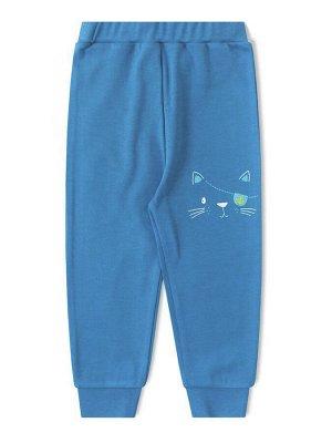 Штанишки ЦВЕТ: Синий; РИСУНОК: Котик; СОСТАВ: Хлопок 100%; МАТЕРИАЛ: Интерлок Хорошенькие штанишки для малыша, изготовленные из плотного материала - интерлока. Брючки на широкой удобной резинке с трик