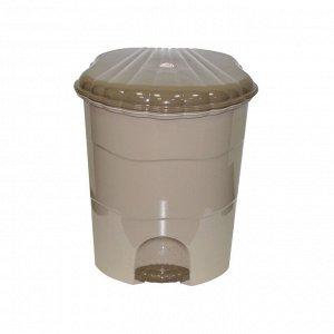 Ведро для мусора с педалью 11л, цвет латте-капучино 275 x 260 x 315 мм