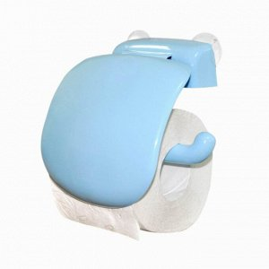 Держатель для туалетной бумаги, цвет голубой 158 x 180 x 50 мм