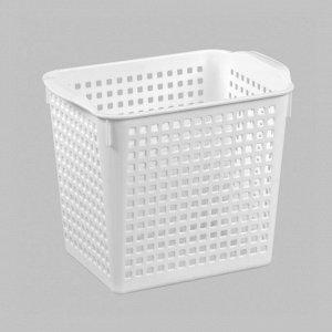 Корзинка «Лофт» 2,8л 200х135х165мм, цвет белый 135 x 200 x 165 мм