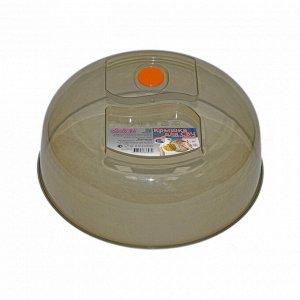 Крышка для СВЧ 26 см с клапаном (дымчатый) 265 x 265 x 95 мм