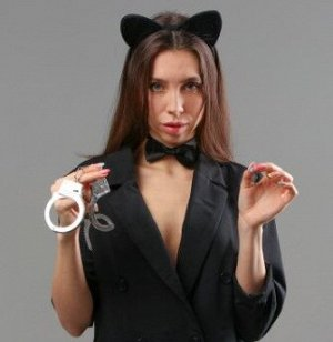 Карнавальный набор «Киса» ободок, бабочка, наручники