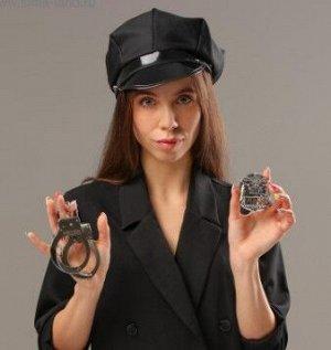 Карнавальный набор «Секс-полиция» шапка, наручники, брошь