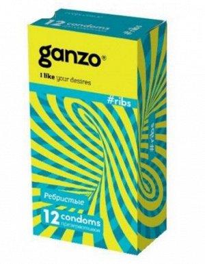 Презервативы Ganzo RIBS, ребристые, 12 шт