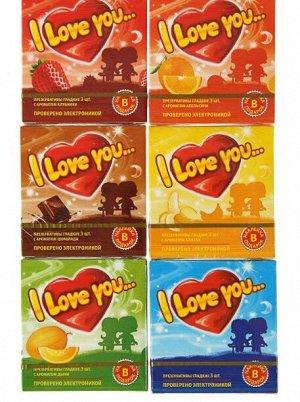 Презервативы I Love You с ароматом фруктов, 3 шт