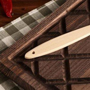 Вилка деревянная, 25 см, массив бука