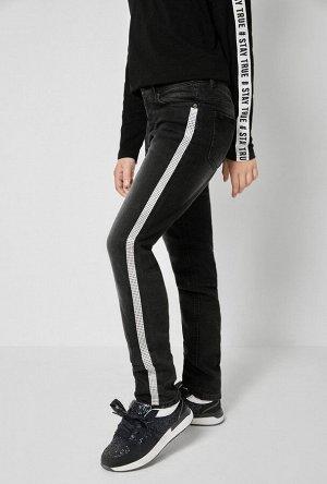Брюки джинсовые (утепленные) детские для девочек Xinai черный
