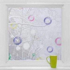 Витражная плёнка «Мыльные пузыри»