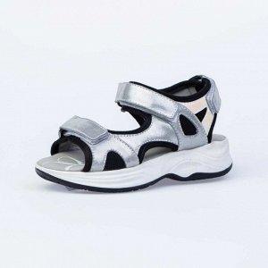 624016-22 срб-чер туфли летние школьные Комбинирован.