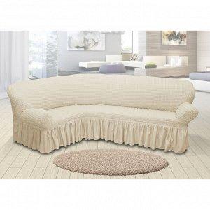 Чехол для мягкой мебели угловой диван 3-х местный 6001, трикотаж, 100%пэ,