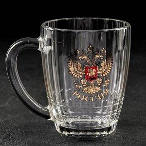 Кружка для пива АС-ДЕКОР «Герб России», 500 мл