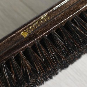 Щетка обувная из натурального волоса (волос 2 см), колодка березовая лакированная, двойное покрытие