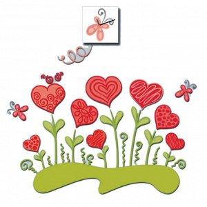 Наклейка интерьерная Валентинов День (3х15х15 см)