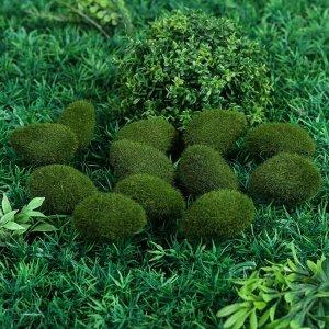 Мох искусственный «Камни». мохнатый. набор 12 шт.