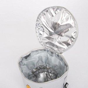 Сумка-термо, отдел на молнии, с расширением, цвет серый