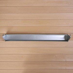 Навесная поилка-кормушка, 80 см, металл