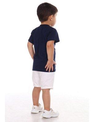Футболка Состав: Хлопок 100 %; Материал: Кулирка Классная футболка на мальчика из 100%хлопка. Оригинальный и яркий принт на полочке. Втачной рукав. Отлично подойдет для отдыха, спорта и прогулок.