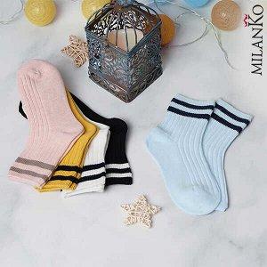 Детские носки демисезонные (полоски) milanko