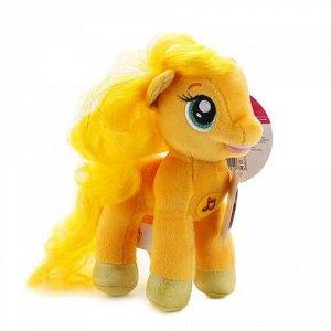 """Мягк. игрушка """"Мульти-пульти"""" My Little Pony.Пони Эпплджек, 18 см, озвуч,пак."""