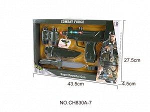 Набор для мальчика (оружие, бинокль) кор. 43,5*4,5*27,5 см