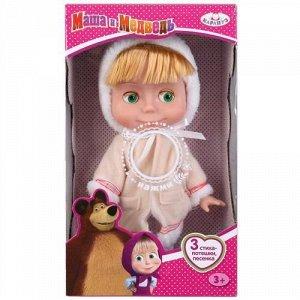 "Кукла ""Карапуз"" озвуч. Маша 25 см, в шубе, 3 стиха и песенки,кор"