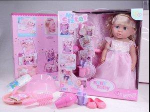 Кукла-пупс функц. с аксесс, кор.39*15*41 см