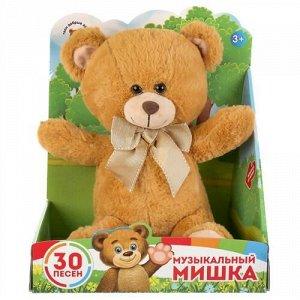 """Мягк. игрушка """"Мульти-пульти"""" Медведь, 30 песен из м/ф и стиховпро животных, кор.25*27*18 см"""