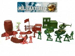 Набор солдатиков с военной техникой,пак.