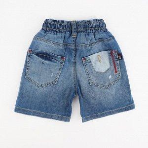 Шорты МАЛ Страна: Турция Производитель: A-YUGI Материал: 95% хлопок, 5% эластан Пол: МАЛ Описание товара: Джинсовые шорты для мальчика на резинке со шнуровкой.