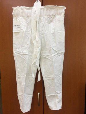 Бриджи Бриджи белые на резинке с поясом  Размер M-L