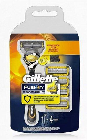 GILLETTE Fusion ProShield Бритва с 1 сменной кассетой + Сменные кассеты для бритвы 3шт