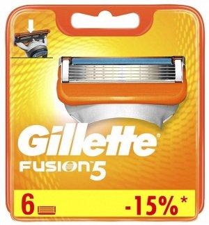 GILLETTE Fusion Сменные Кассеты для бритья 6шт
