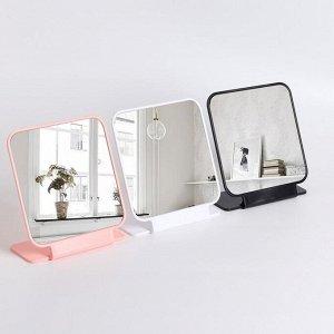 Зеркало настольное, зеркальная поверхность 14,7 ? 14,7 см, цвет МИКС