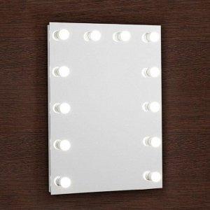 Зеркало, гримёрное, настенное, 12 лампочек, 60?80 см