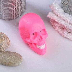 """Фигурное мыло """"Череп Вася"""" розовый, 80гр."""