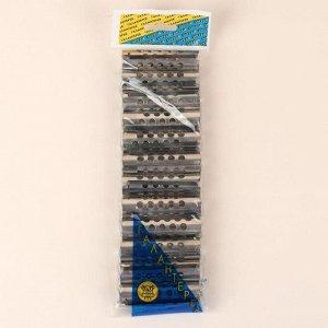 Бигуди на резинке, d = 1,8 см, 12 шт, цвет серебристый