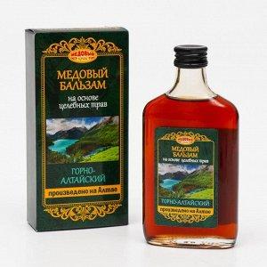Медовый бальзам «Горно-Алтайский», на основе целебных трав, 250 мл