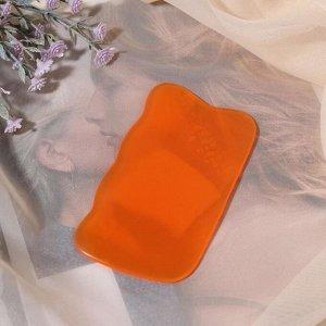 Массажёр гуаша «Волна», 9,5 ? 5,5 см, цвет оранжевый 5161857