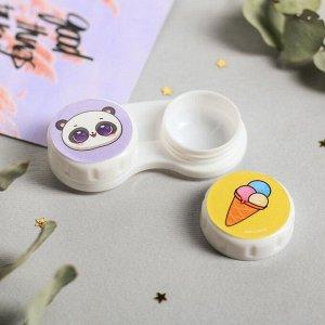 """Контейнер для контактных линз """"Панда"""", 6,3 х 2,5 см"""